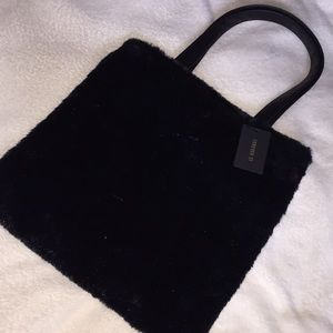 NEW with tags! FAUX FUR tote!!